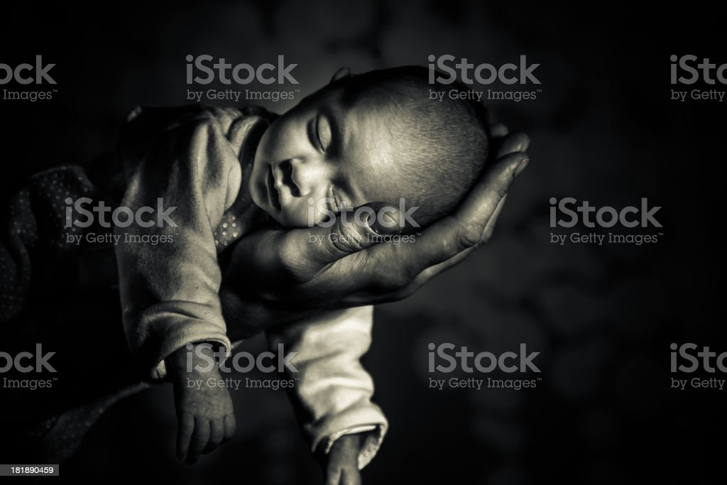 Newborn portrait stock photo