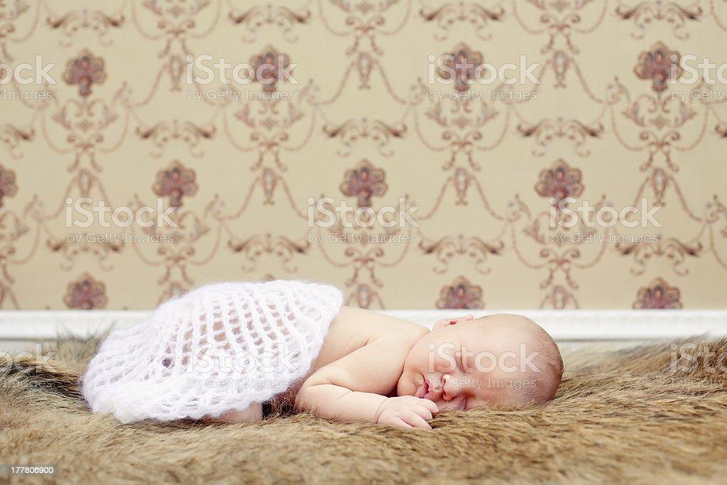 Newborn sleeping child royalty-free stock photo