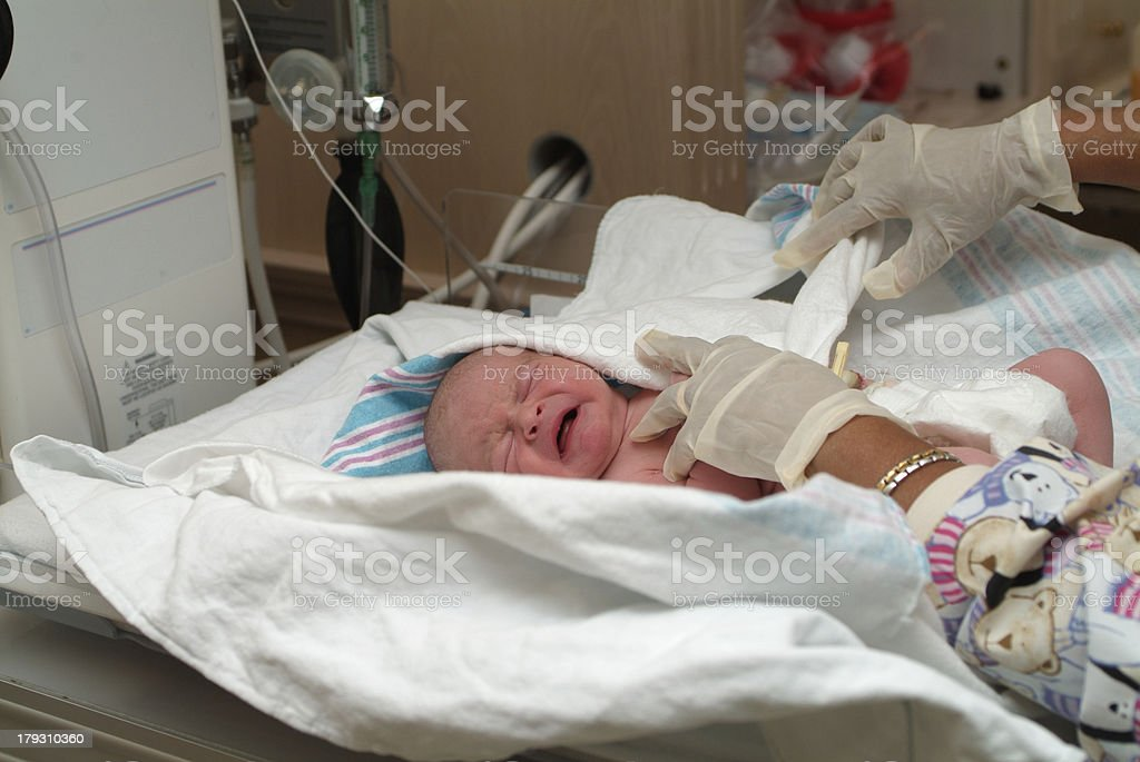 Newborn Swaddling royalty-free stock photo