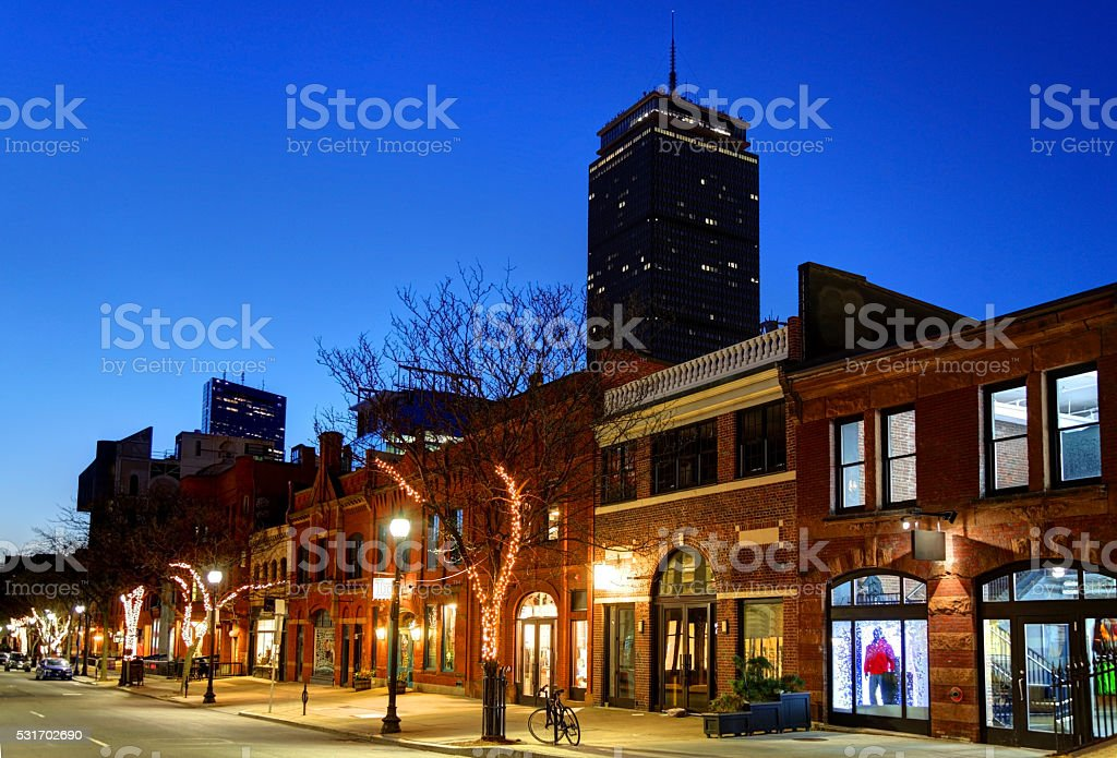 Newbury Street Boston stock photo