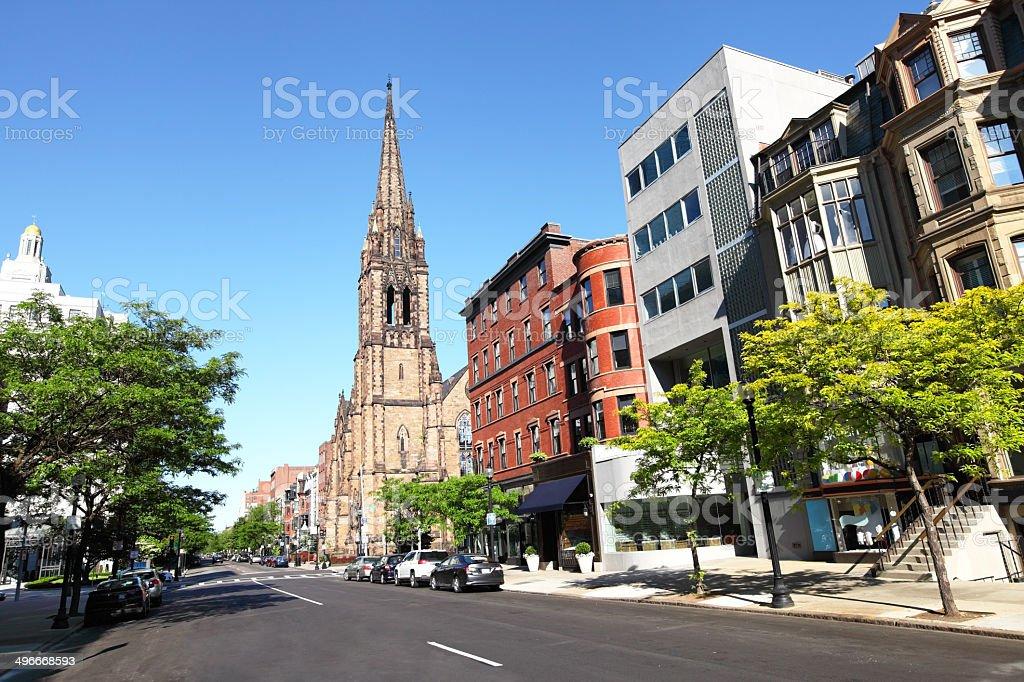 Newbury Street stock photo