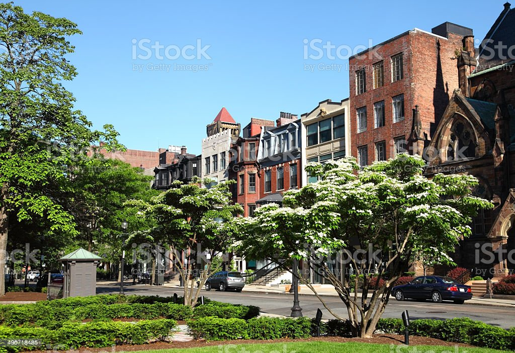 Newbury Street stock photo