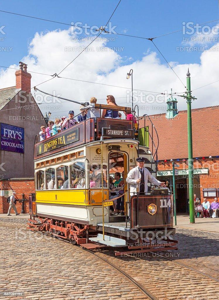 Newcastle 114 Tram stock photo