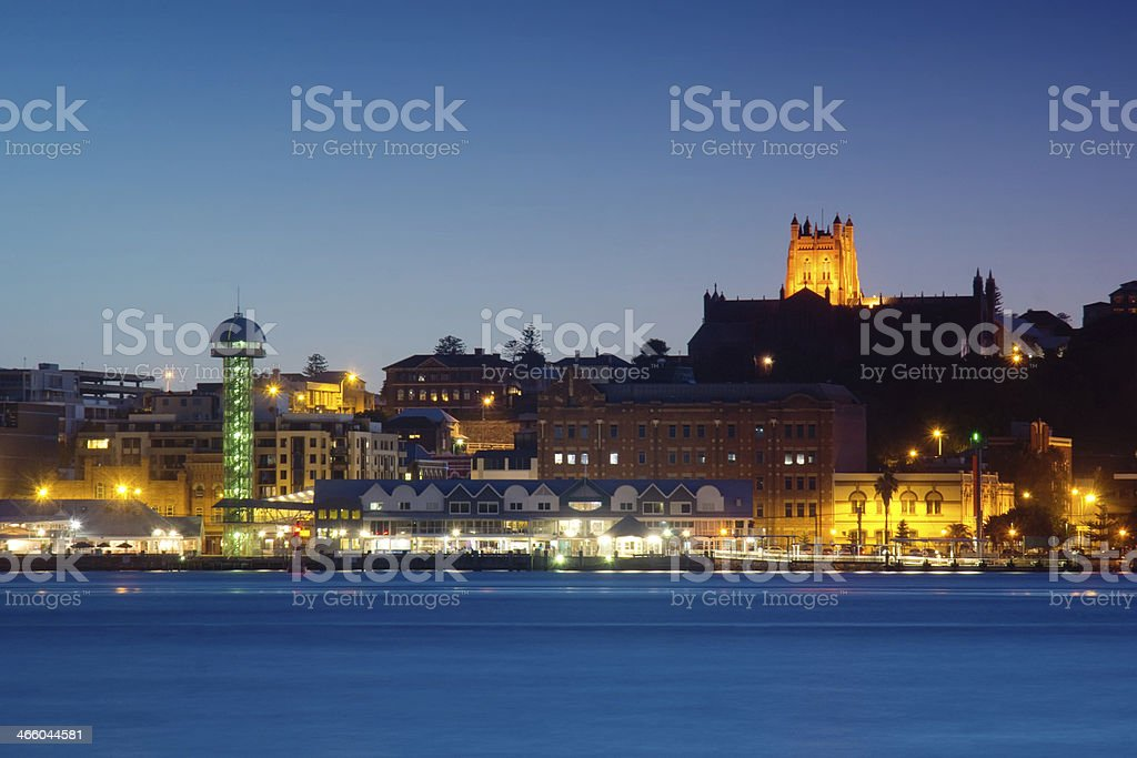 Newcastle, Australia at night stock photo