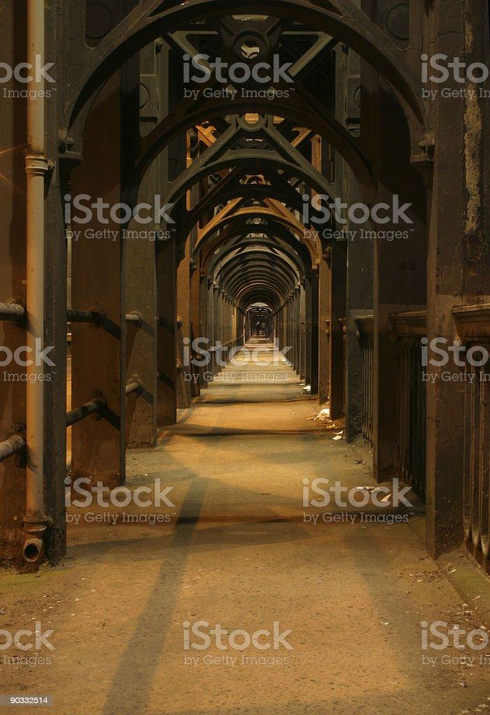 newcastle birdge walkway stock photo