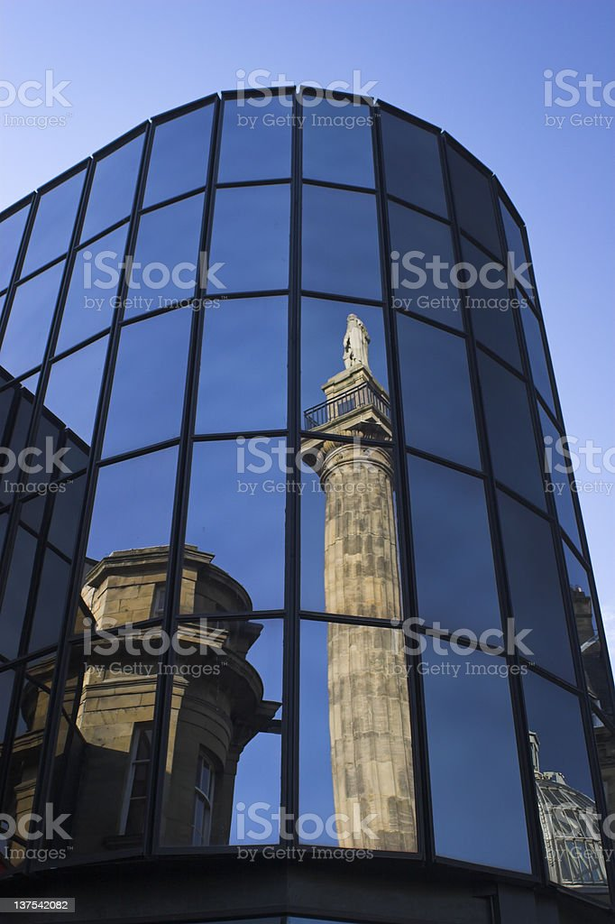 Newcastle city centre royalty-free stock photo