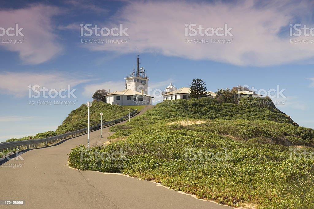 Newcastle - Nobbys Head Lighthouse royalty-free stock photo
