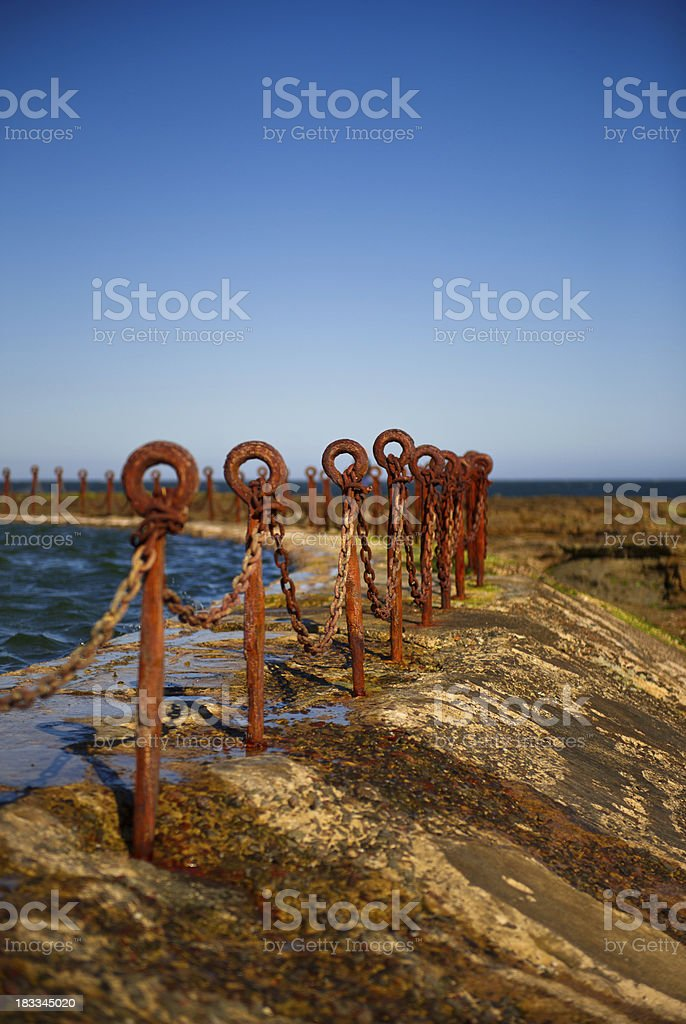 Newcastle Ocean Bath royalty-free stock photo