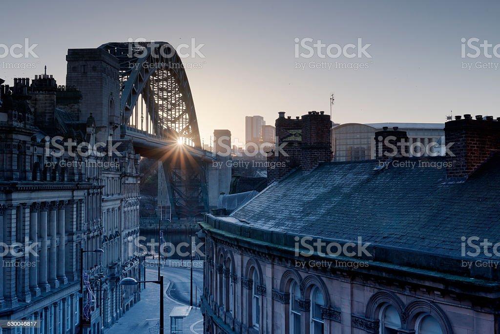 Newcastle Quayside Morning stock photo