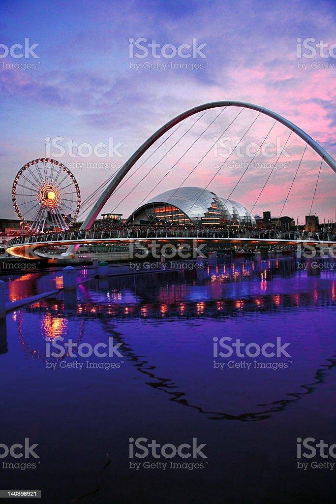 Newcastle Quayside Sunset stock photo