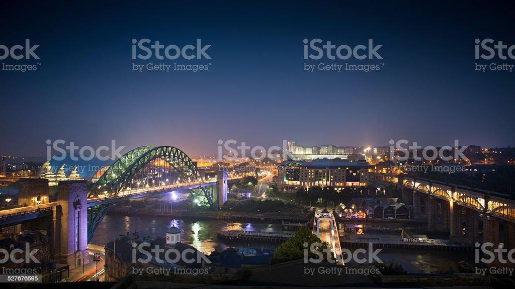 Newcastle - River Tyne stock photo