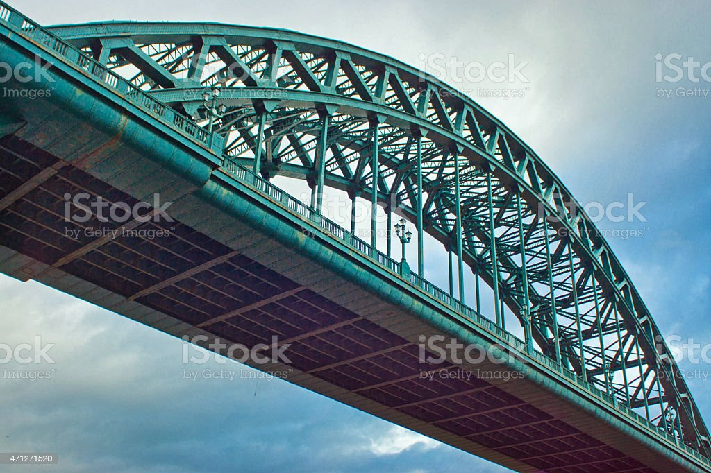 Newcastle Tyne bridge stock photo