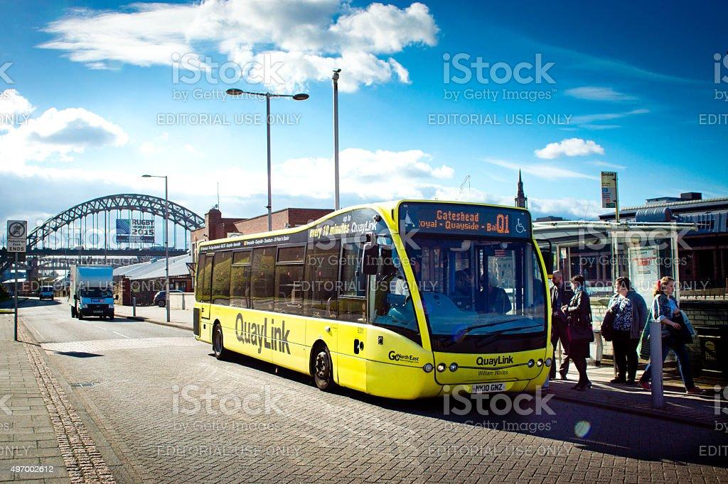 Newcastle Tyne bridges stock photo