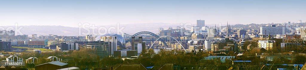 Newcastle Upon Tyne Skyline Panorama royalty-free stock photo