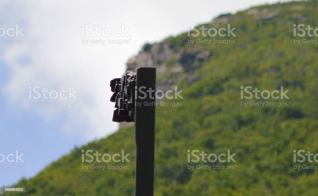 Newer Old Man in the Mountain stock photo