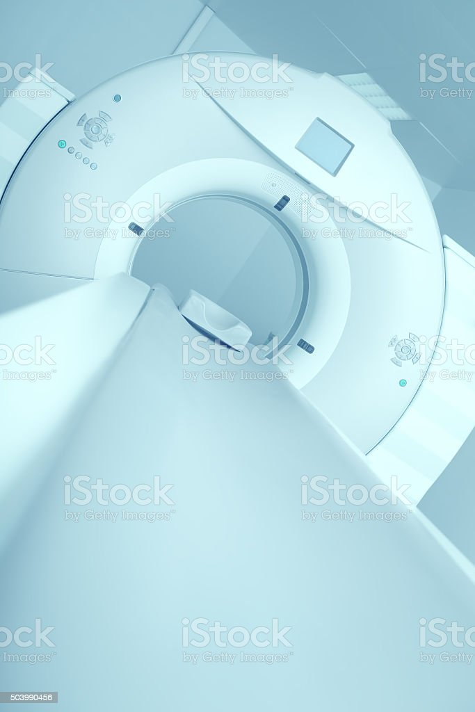 Newest CT, MRI scanner in a modern hospital stock photo