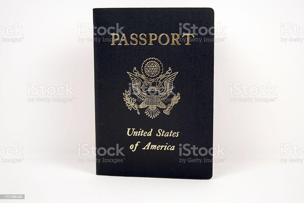 Newest Style US Passport royalty-free stock photo