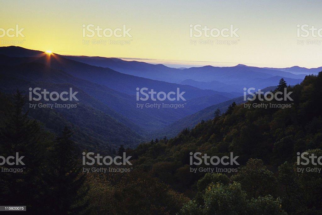 Newfound Gap, Smoky Mountains stock photo