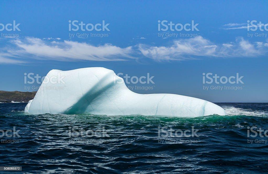 Newfoundland Beautiful Smooth Iceberg stock photo