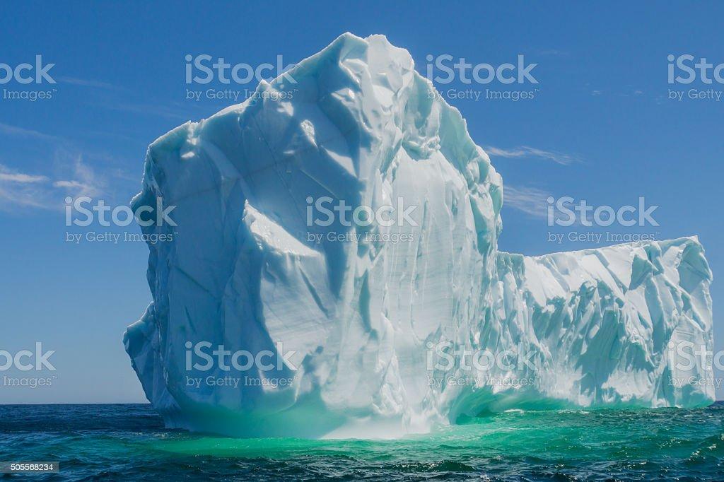 Newfoundland Close Up to Massive Iceberg stock photo