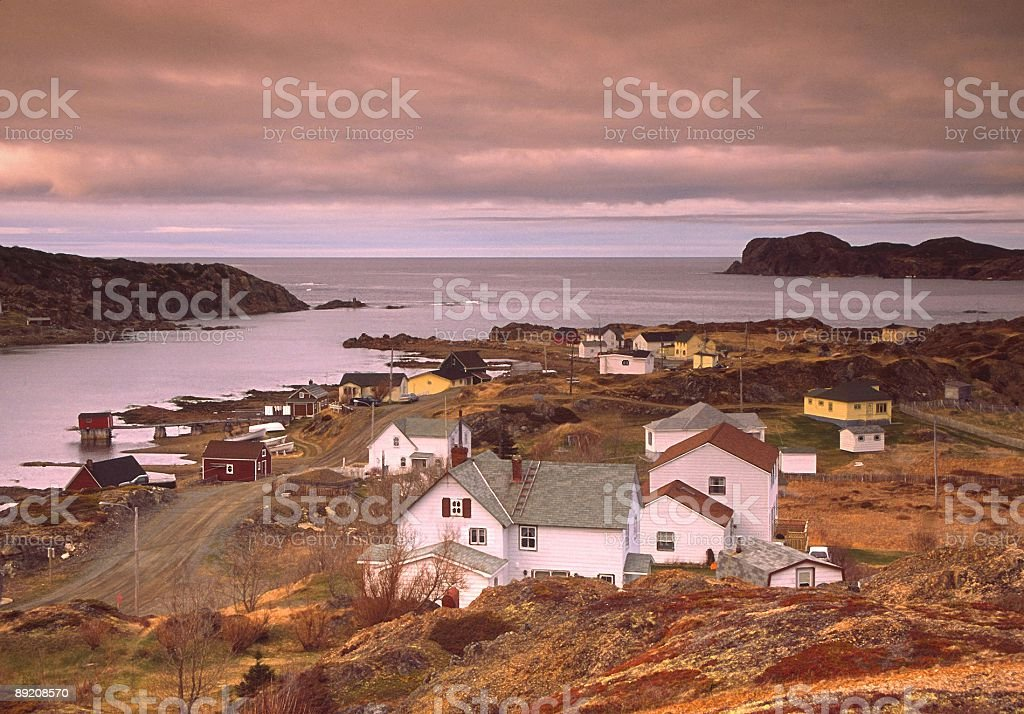 Newfoundland Coast stock photo