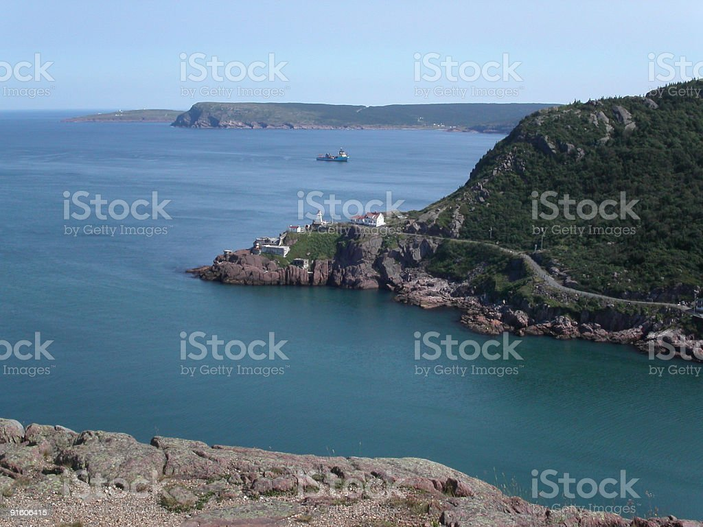 Newfoundland coast royalty-free stock photo