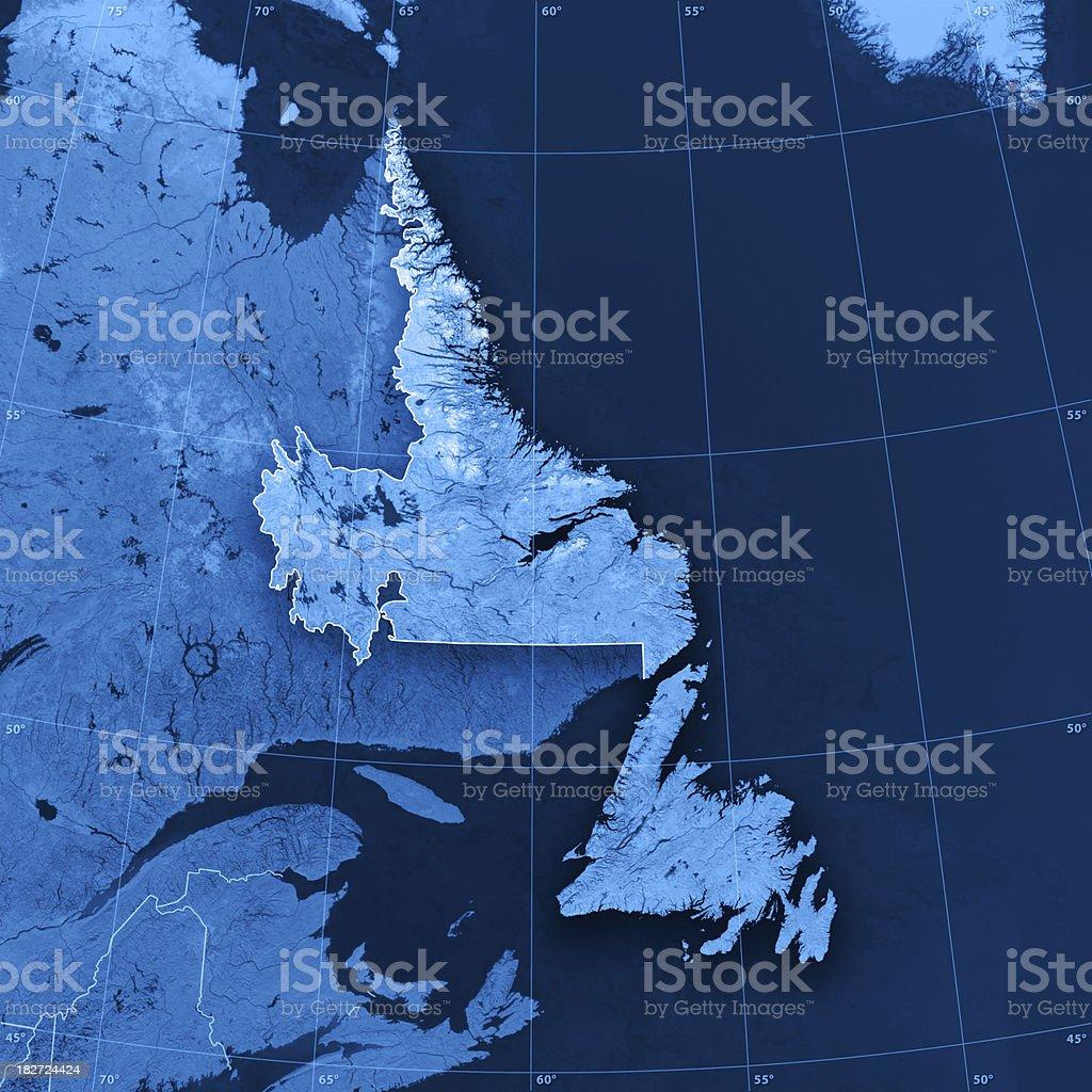 Newfoundland Labrador Topographic Map royalty-free stock photo