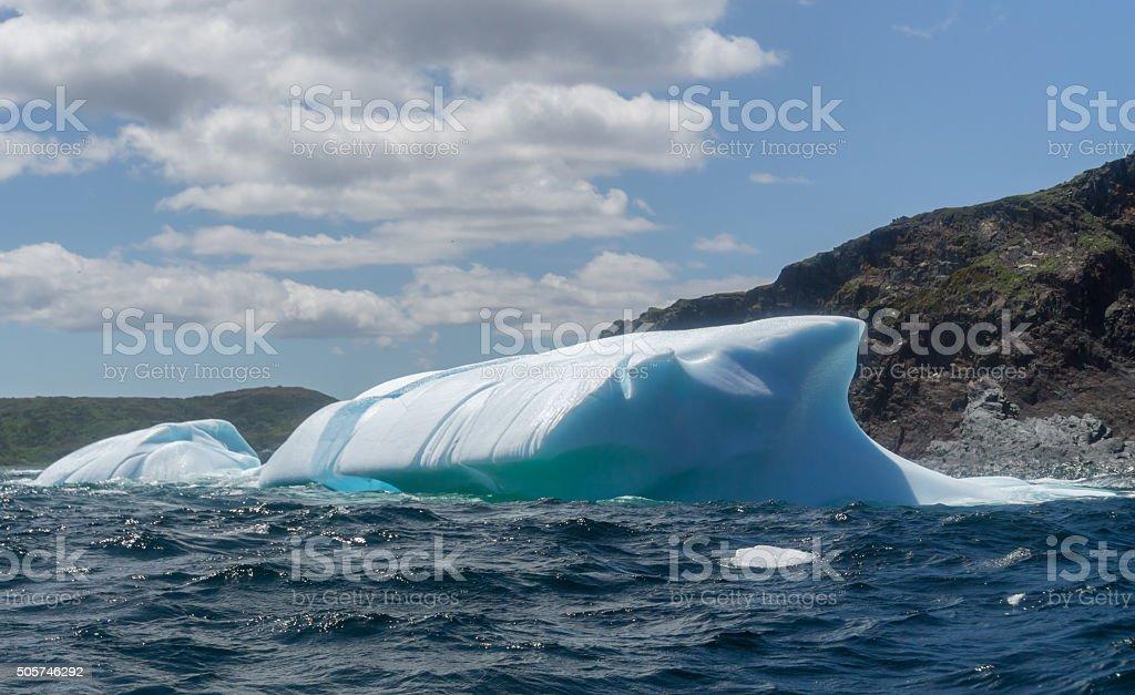Newfoundland Luminous Iceberg stock photo
