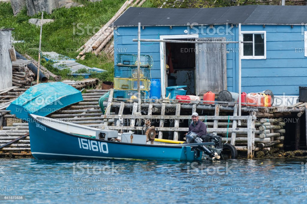 Newfoundland Outport Fisherman stock photo