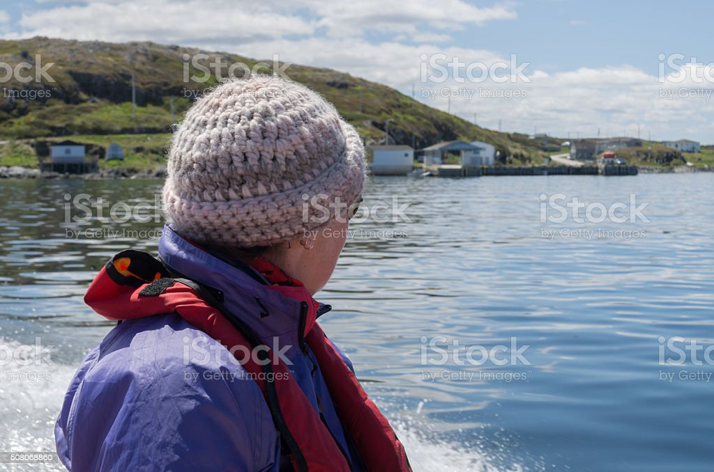 Newfoundland Person in Woolly Hat stock photo