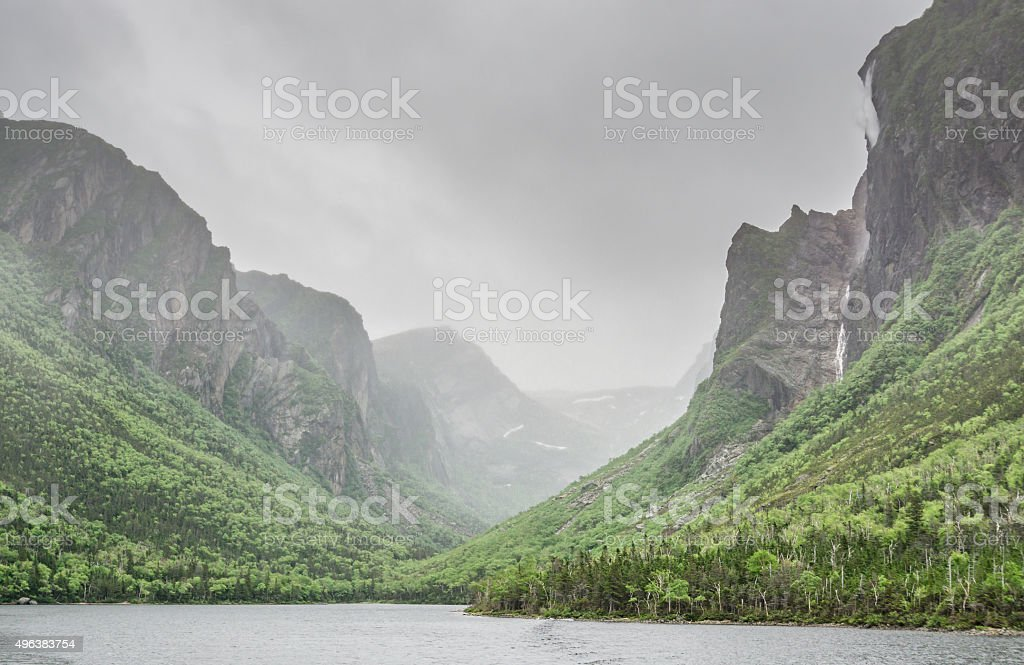 Newfoundland Pissing Mare Falls stock photo