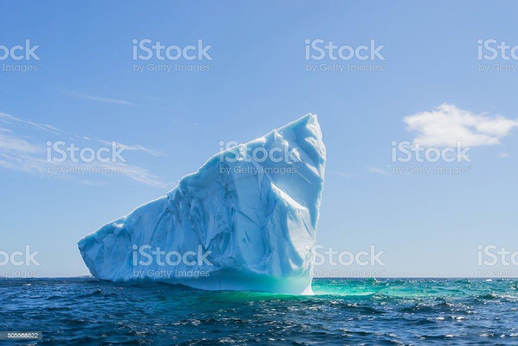 Newfoundland Pointed Iceberg stock photo
