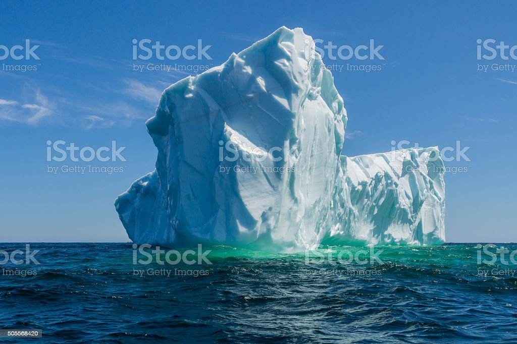 Newfoundland Tick Icebergs off the Bucket List stock photo