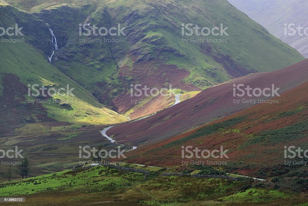 Newlands Hause and Moss Force stock photo