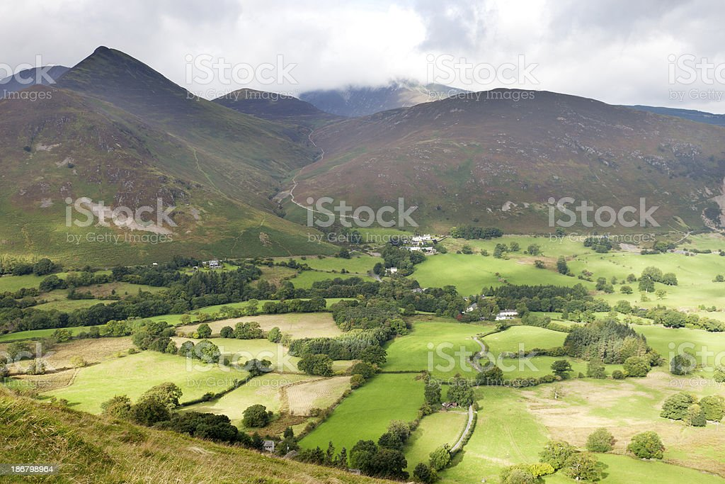 Newlands Valley in the Lake District stock photo