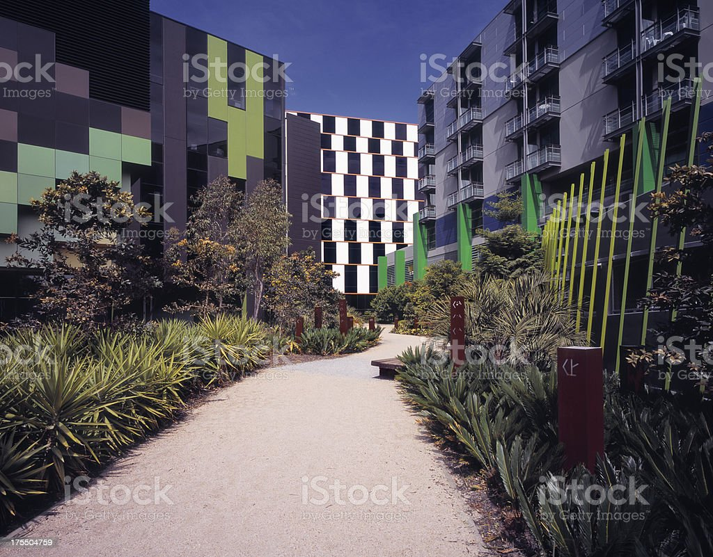 Newly built apartment and office buildings royalty-free stock photo