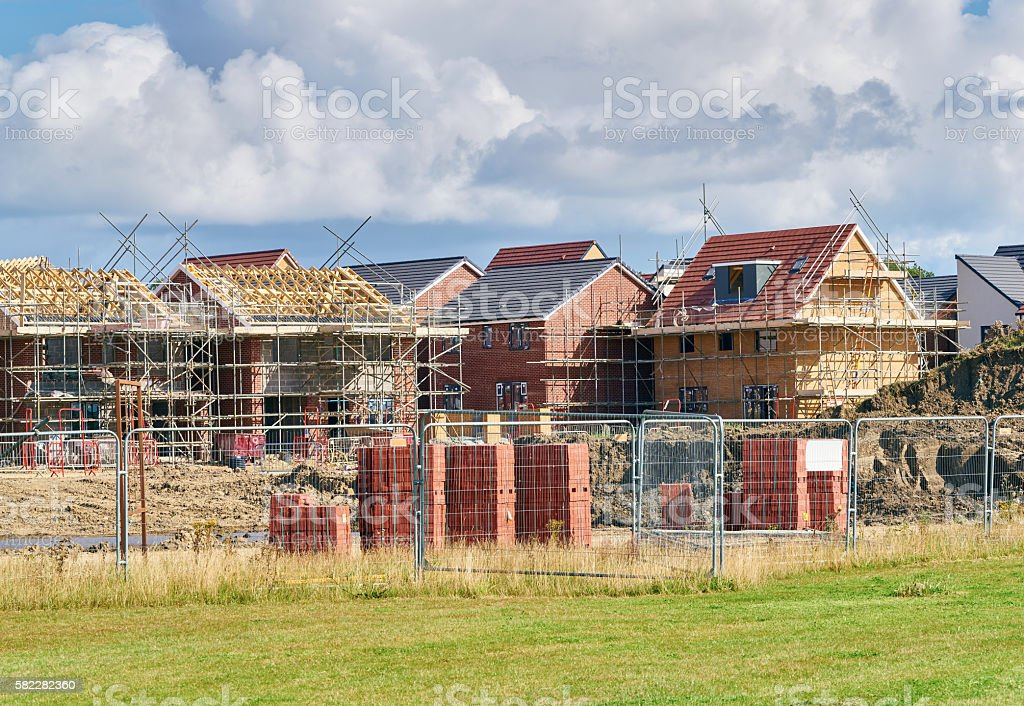 Newly built homes stock photo