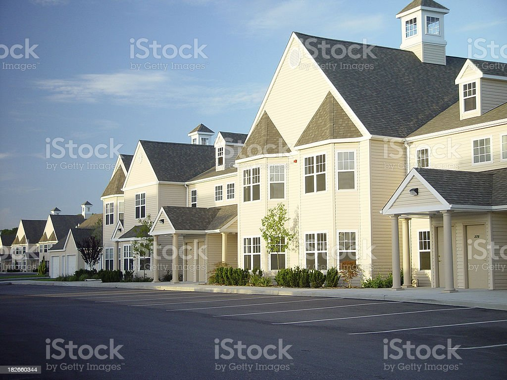 Newly Constructed Condos royalty-free stock photo