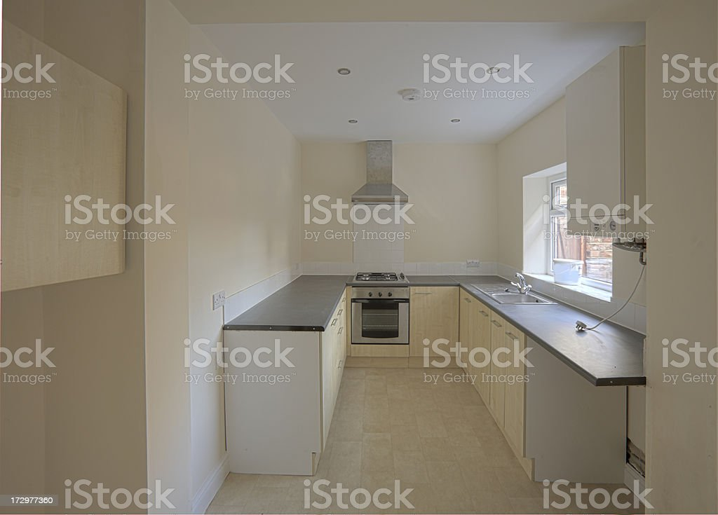 Newly Fitted Kitchen in Rental Property-More of same below.. royalty-free stock photo