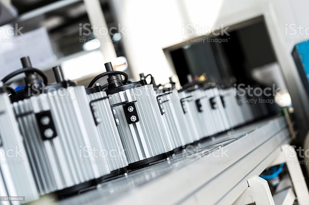 newly manufactured spare parts in factory stock photo