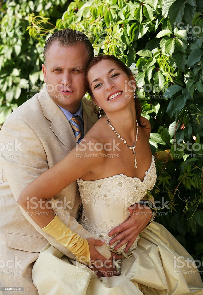 Newly married pair royalty-free stock photo