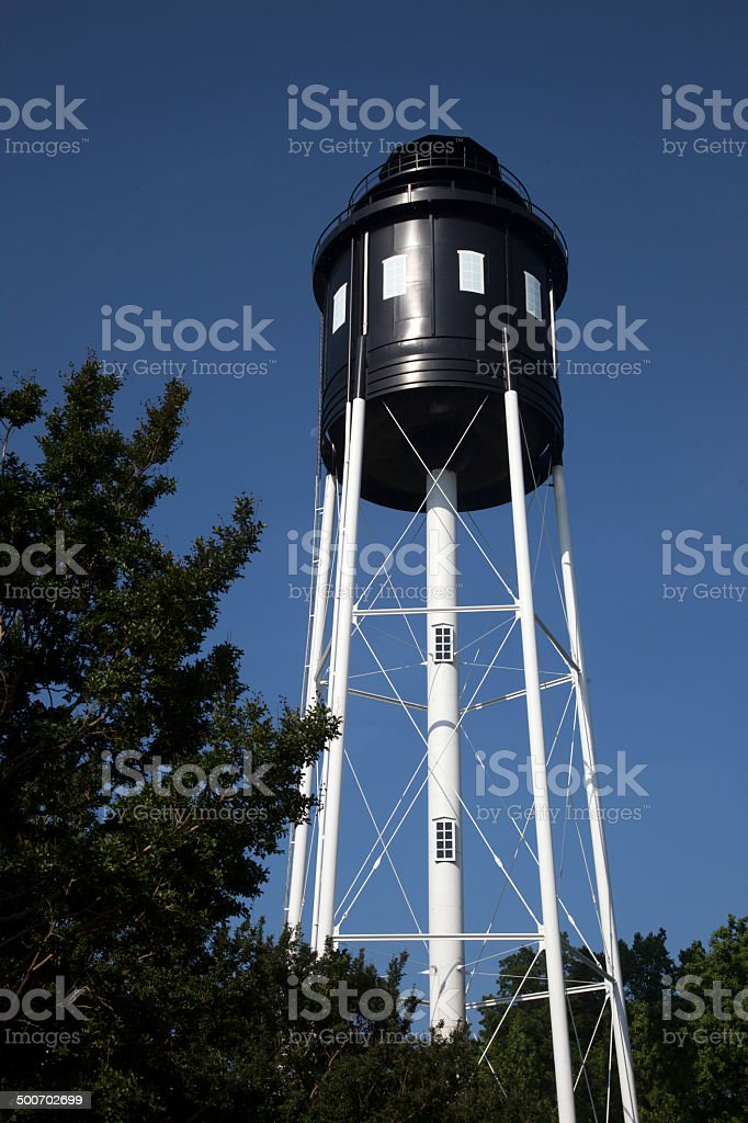 Newly Painted Water Tower royalty-free stock photo