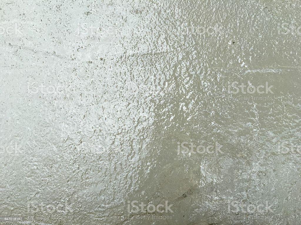 newly poured concrete floor stock photo