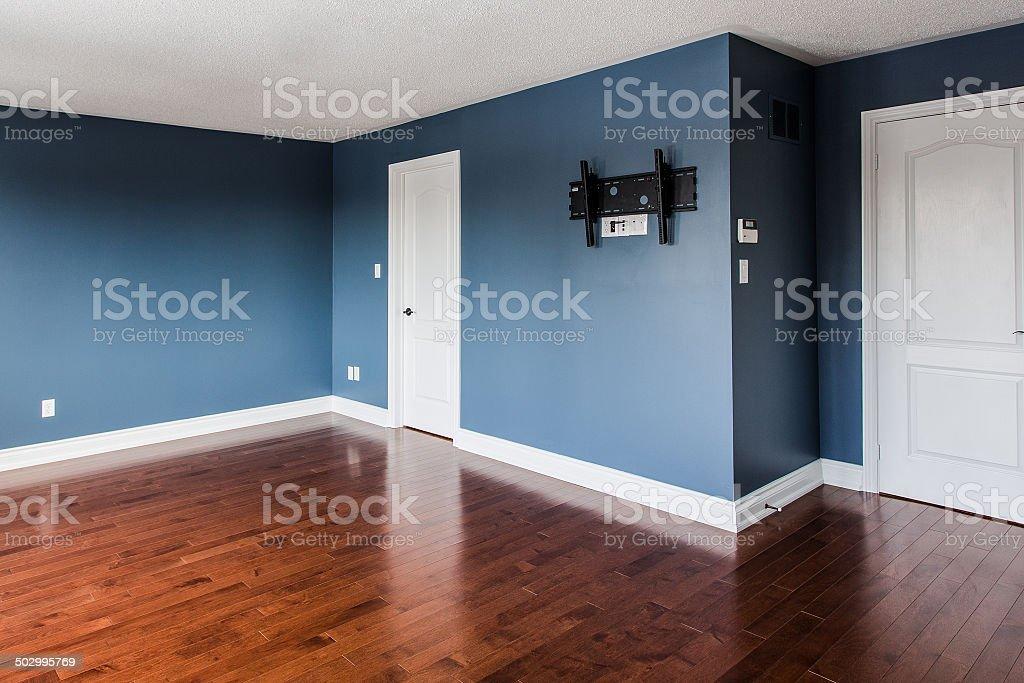 Newly renovated room stock photo
