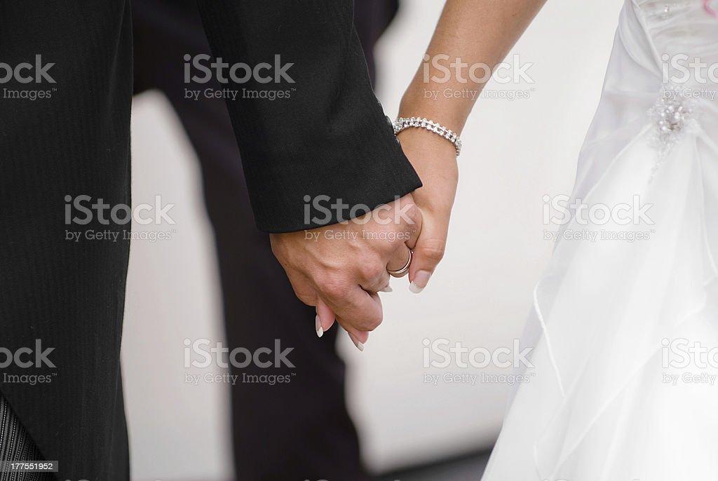 Newly Wedded royalty-free stock photo