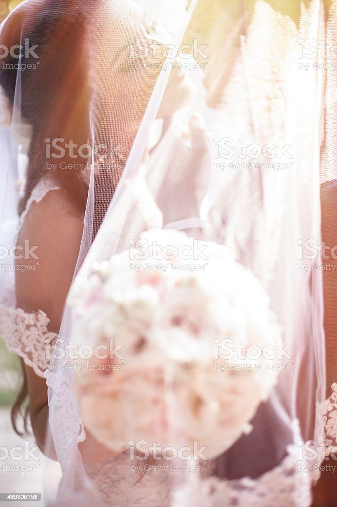 Newly weds stock photo