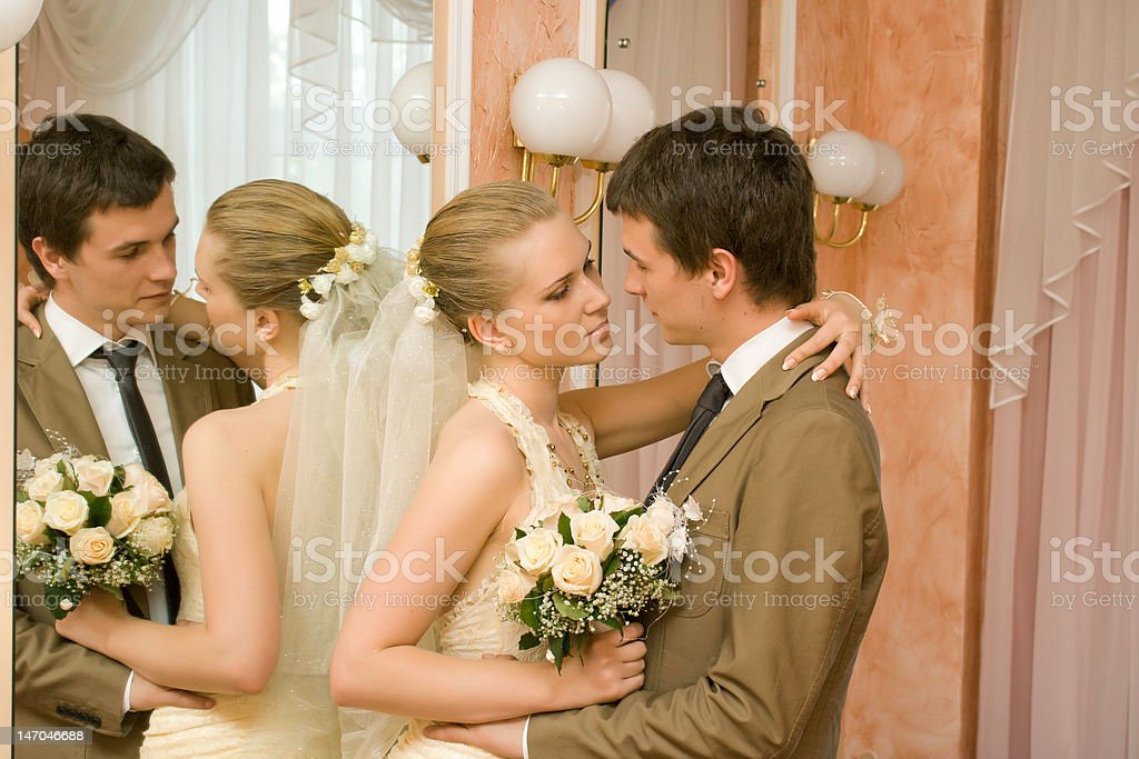 Newly-married royalty-free stock photo