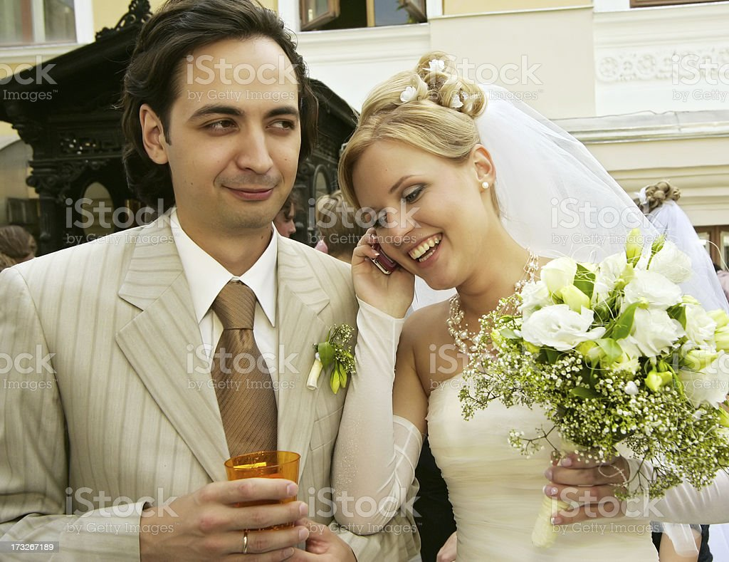 Newly-marrieds royalty-free stock photo