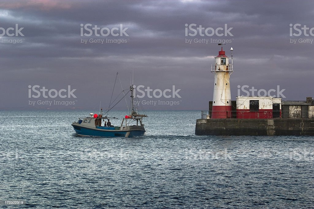 Newlyn Harbour royalty-free stock photo