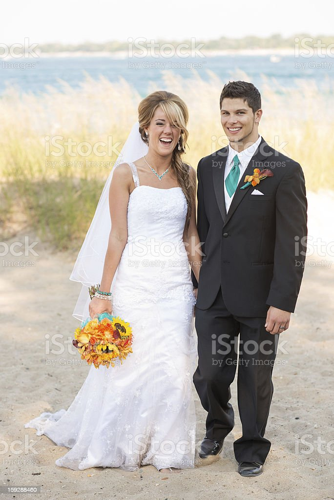 Newlywed Bride and Groom royalty-free stock photo